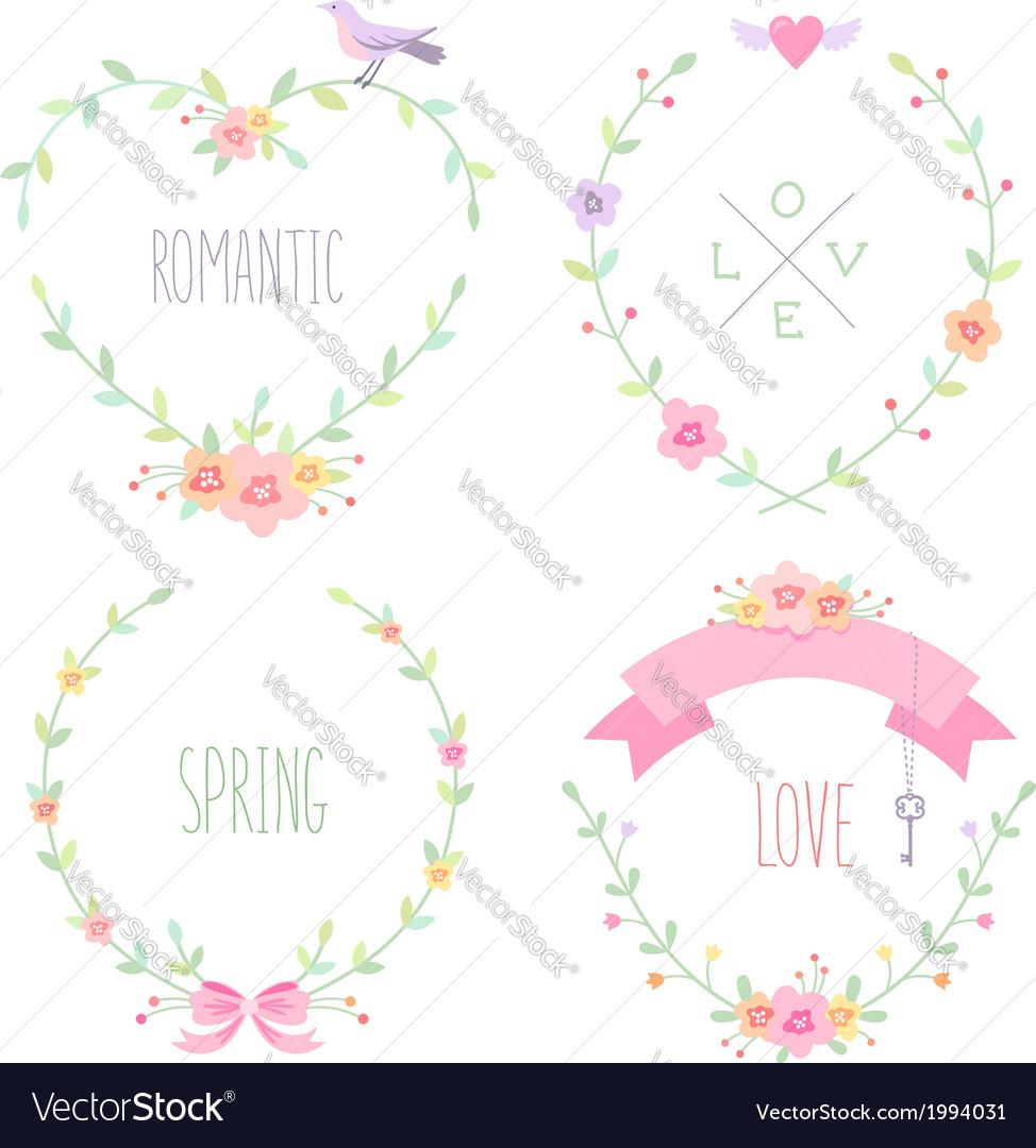 Romantic frames Royalty Free Vector Image - VectorStock