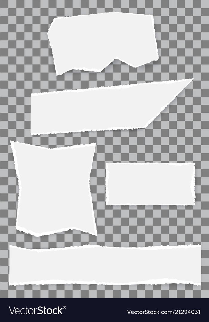 White paper torn note collection on checkered