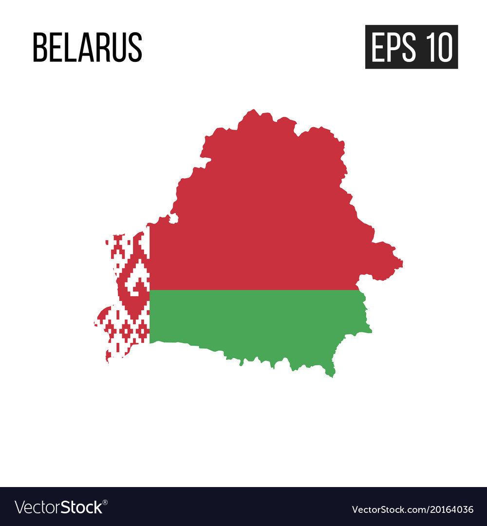 Belarus map border with flag eps10 vector image