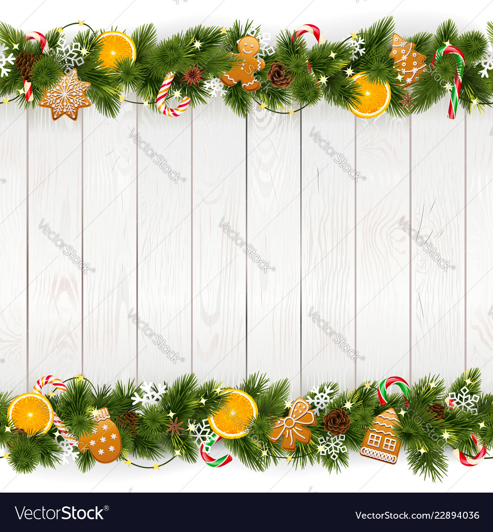 Christmas background with white plank