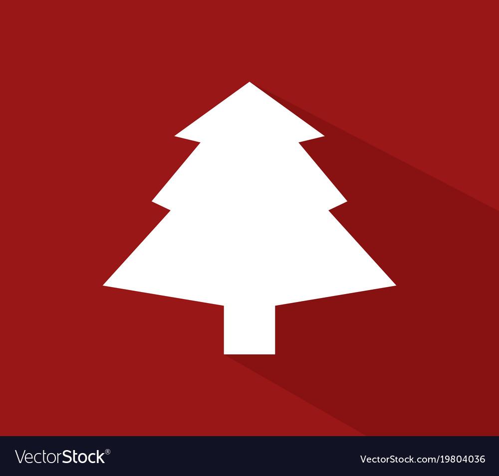 Christmas tree icon on white background