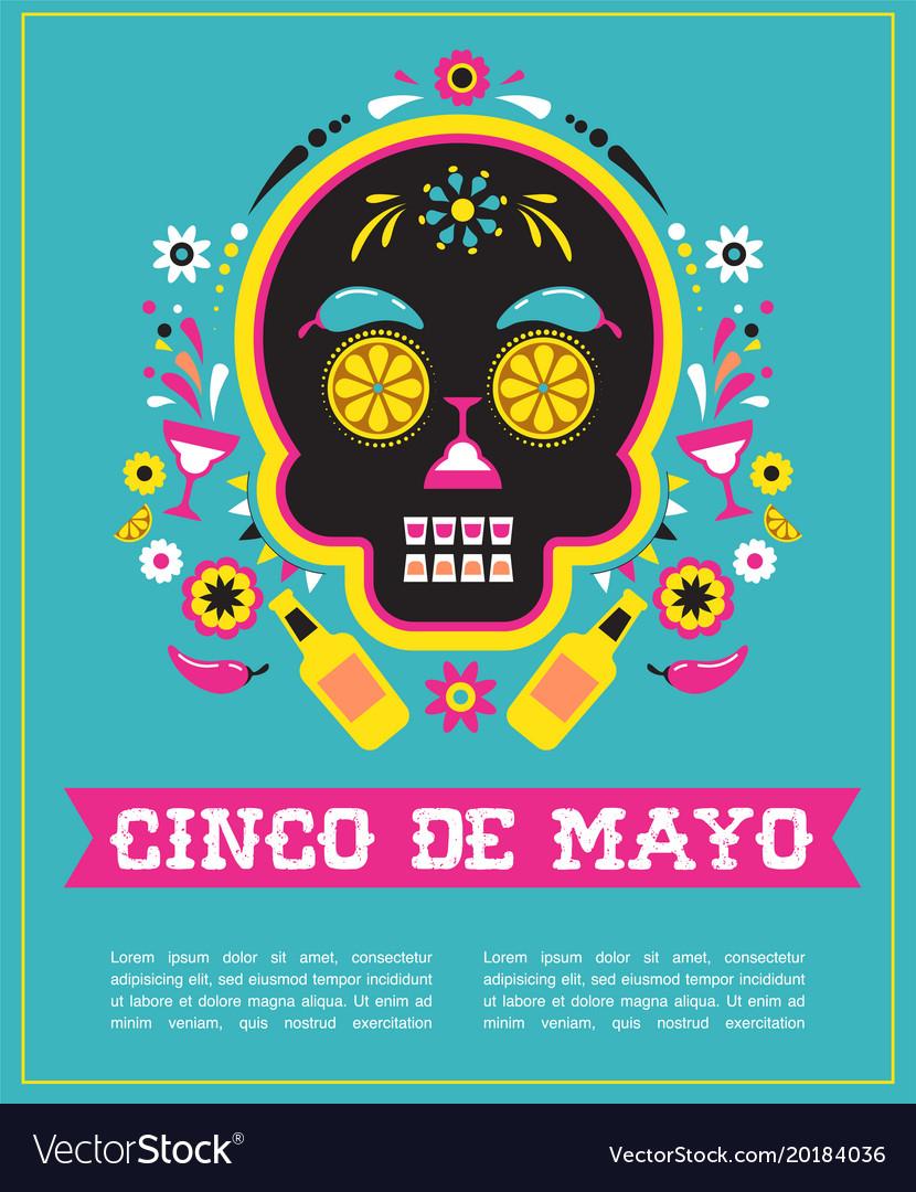 Cinco de mayo greeting card