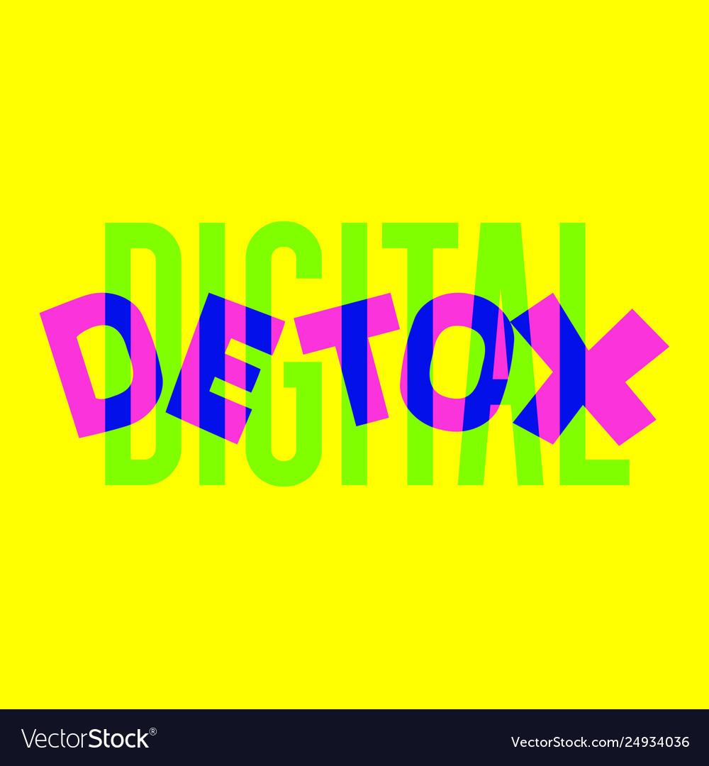 Digital detox hand drawn