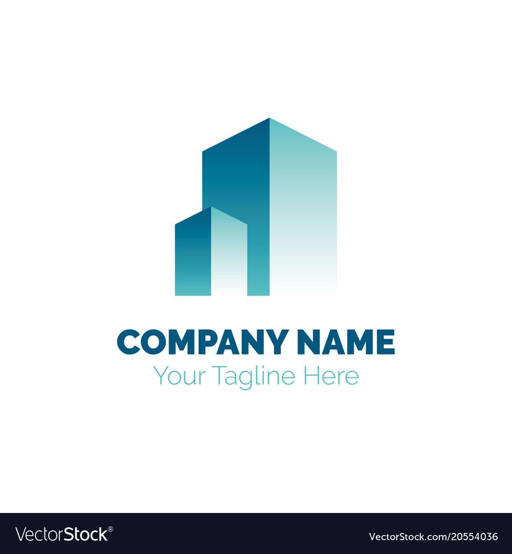 Real estate logo design template building
