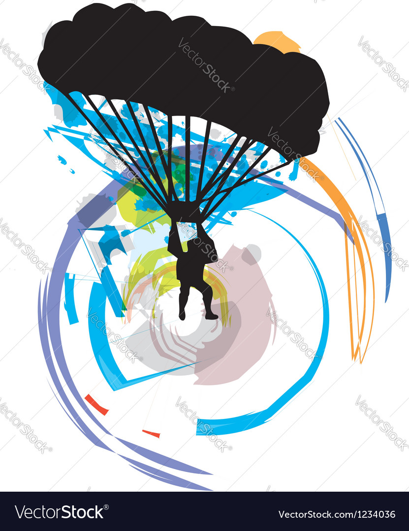 Skydiving vector image