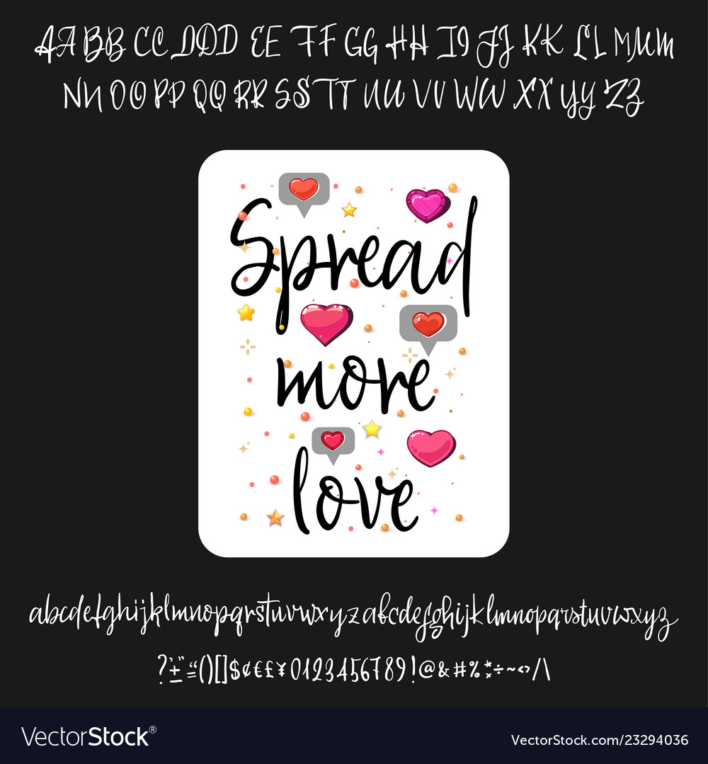 Spread more love handwritten fonts analog