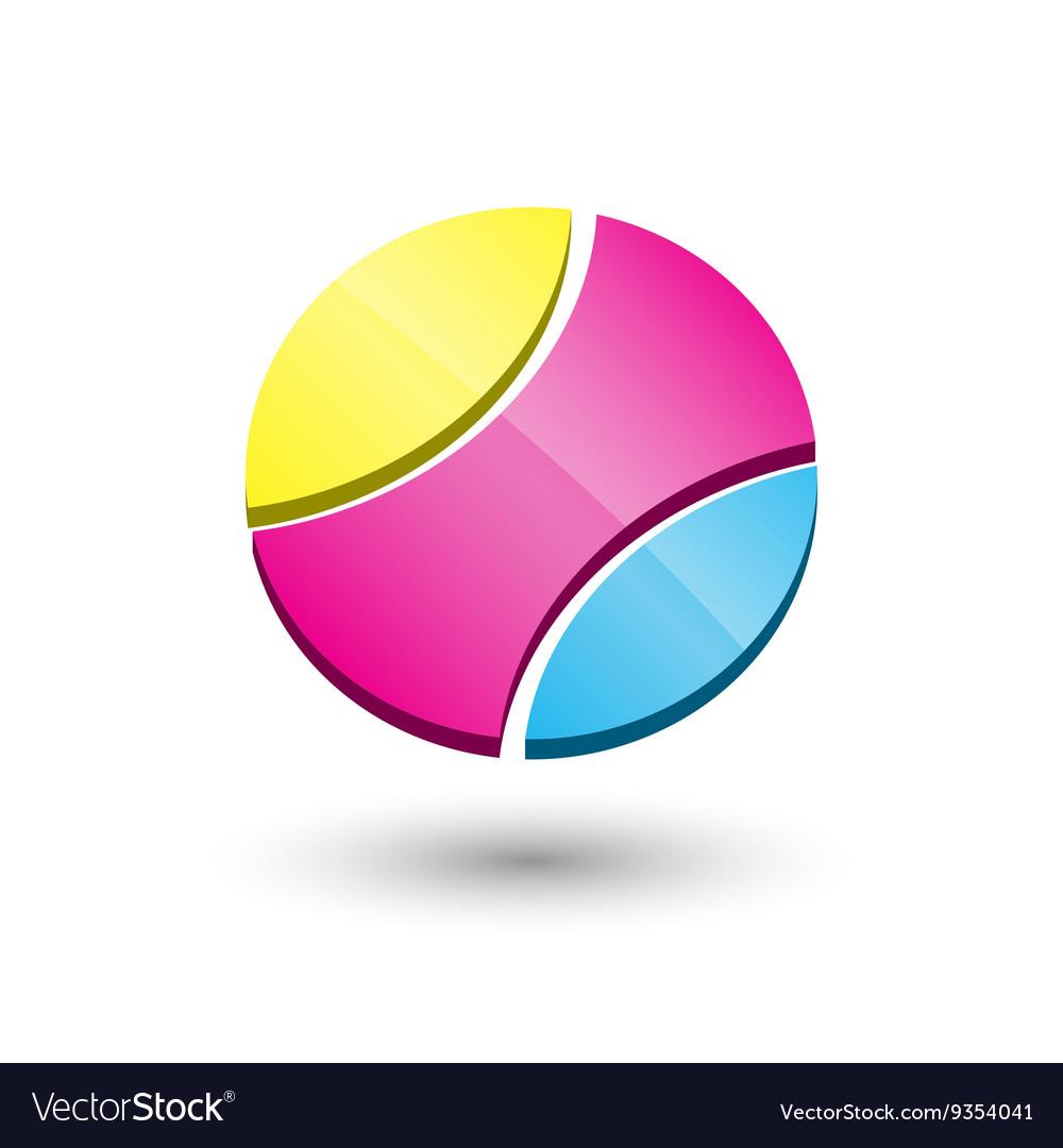 Abstract circle 3d icon logo template design vector image