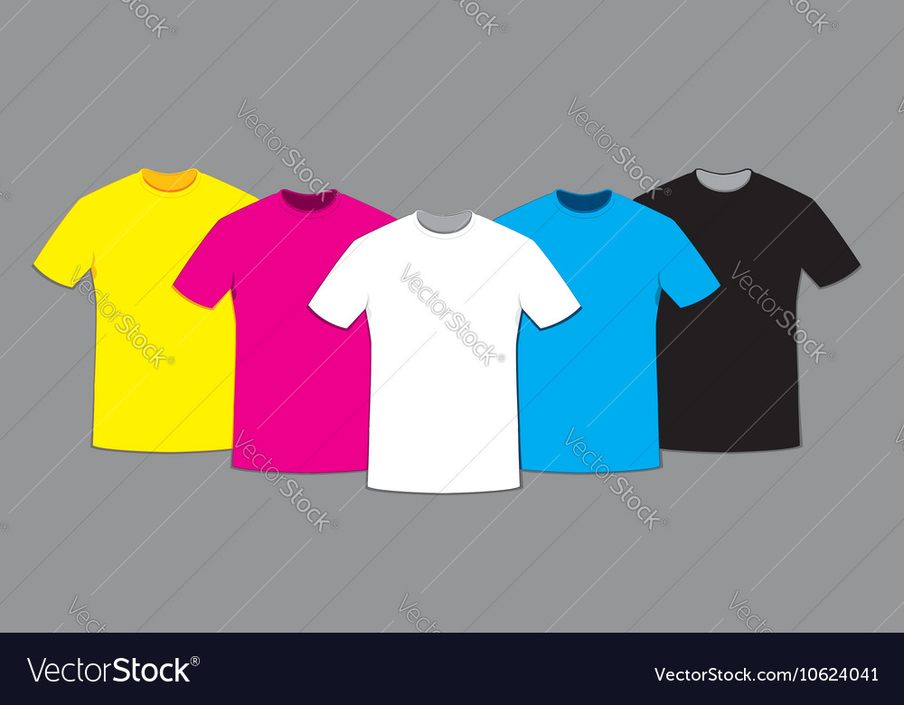 Coloured Blank T Shirts Template Set