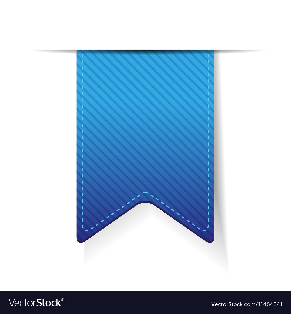Empty blue ribbon isolated vector image