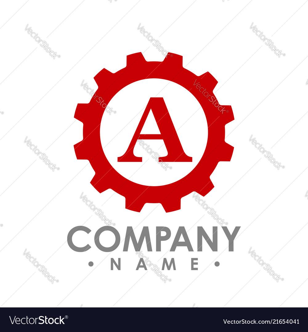 Letter a gear logo concept- logo concept
