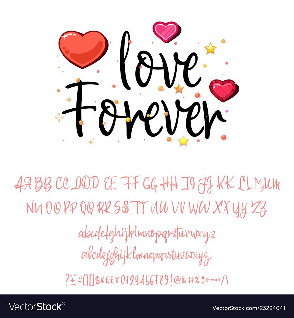 Love forever handwritten fonts analog handwriting