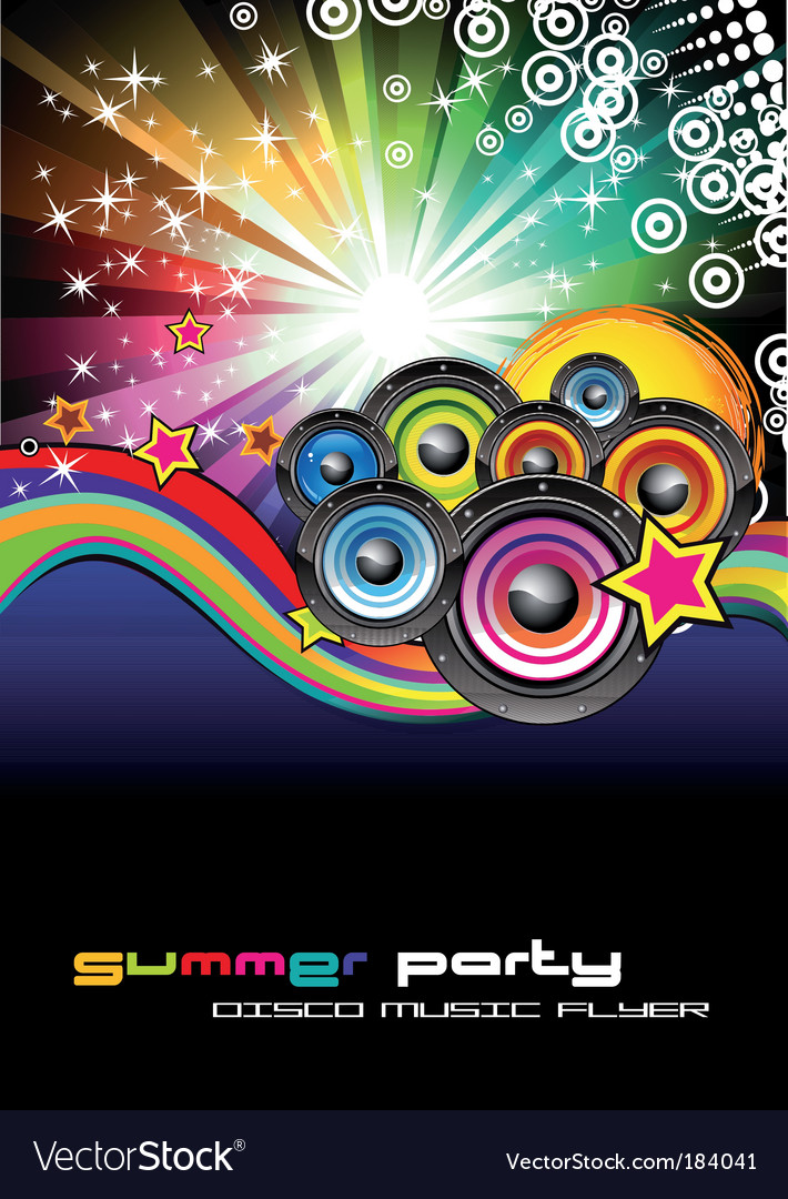 music background for disco flyers royalty free vector image