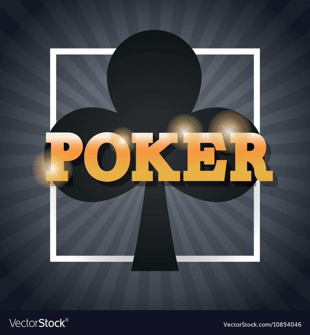 Clover of poker inside frame design