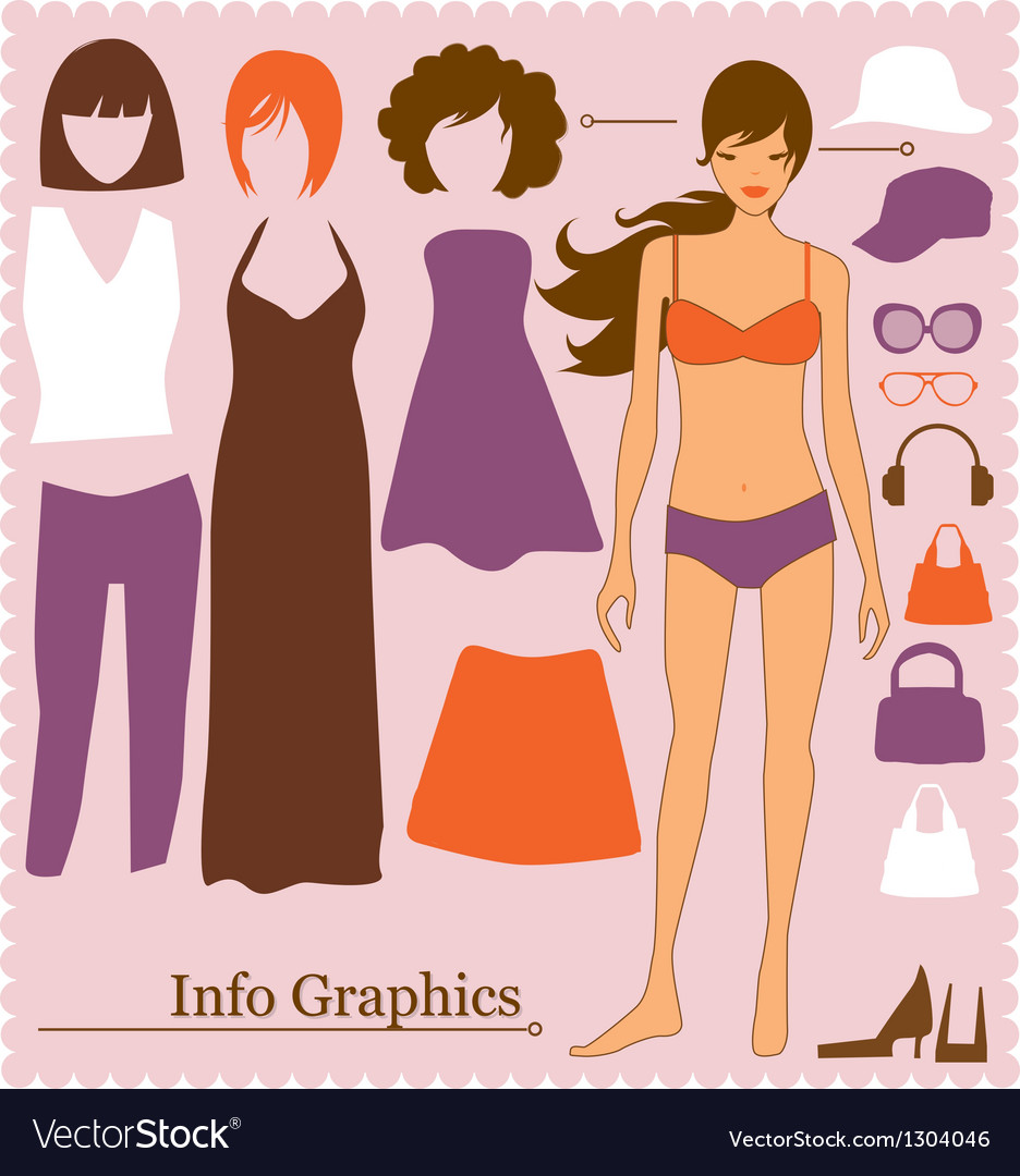 Fashion info graphics
