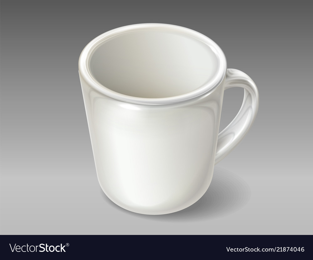 Isolated porcelain cup for tea or coffee
