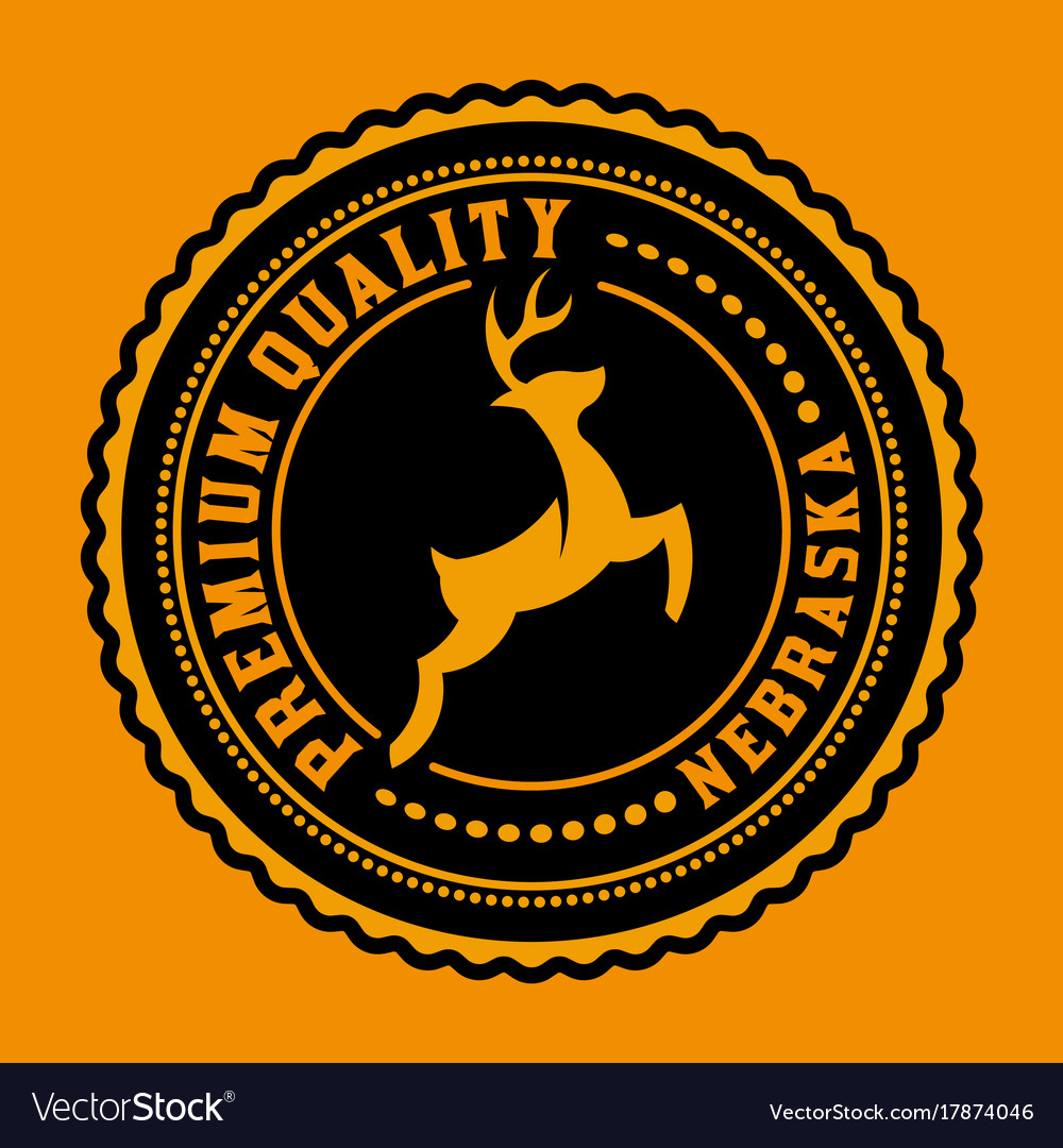 Logo or badge with deer icon