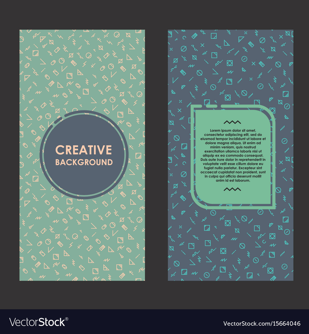 Modern layout with creative background abstract