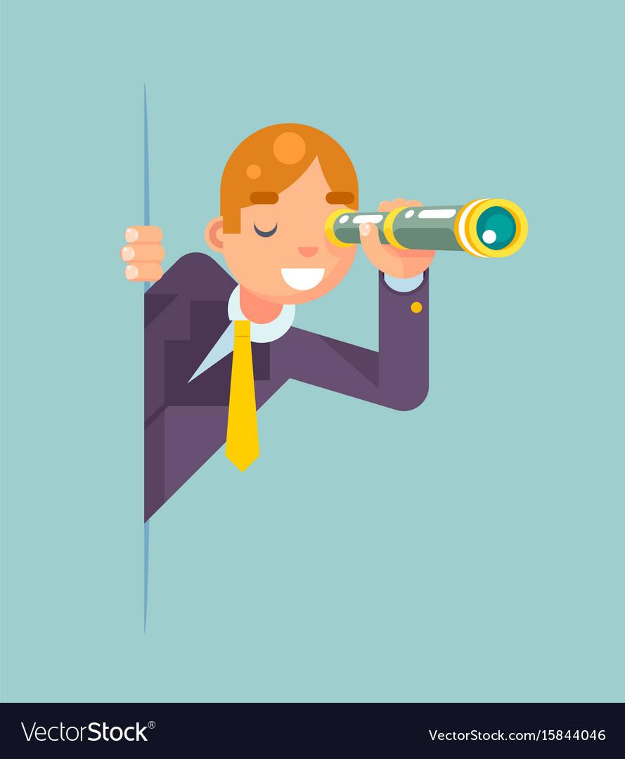 Spyglass telescope spy look out corner idea search