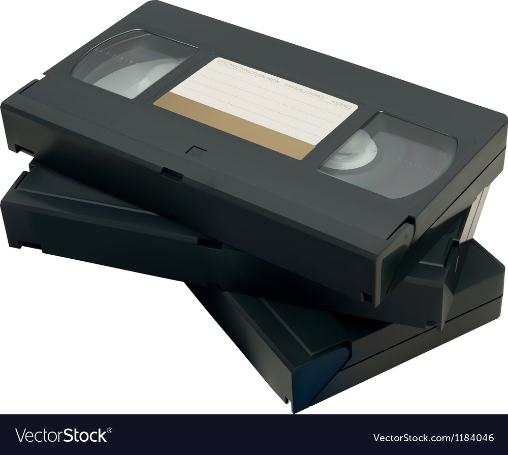 Vhs Tape Royalty Free Vector Image Vectorstock