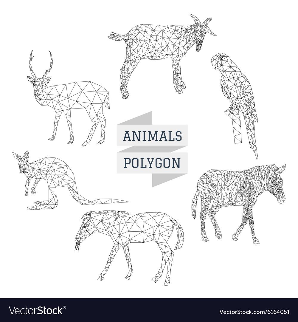 Animals polygon outline