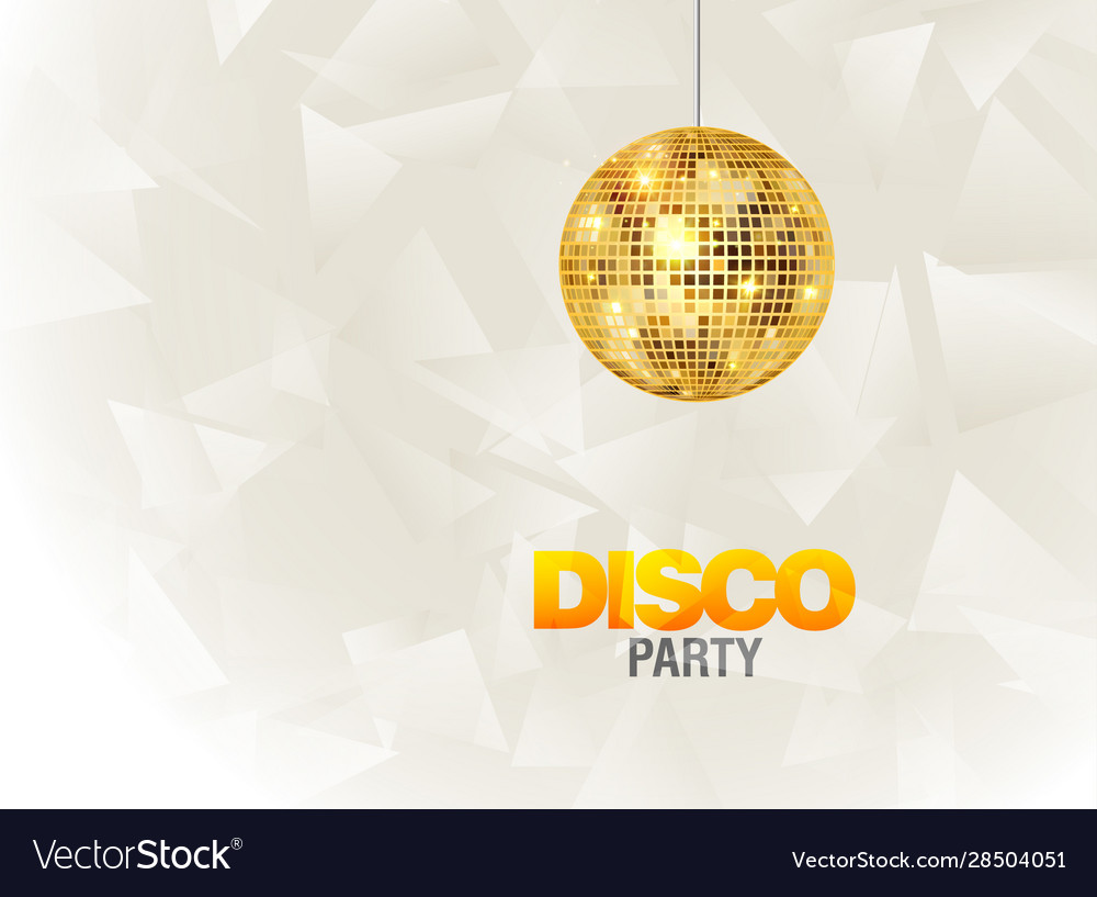 Disco dance party background flyer poster