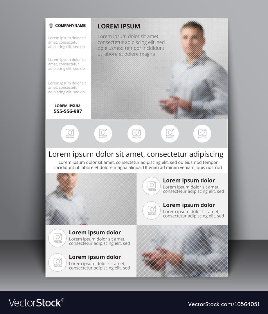 Flyer design with a blurred photo