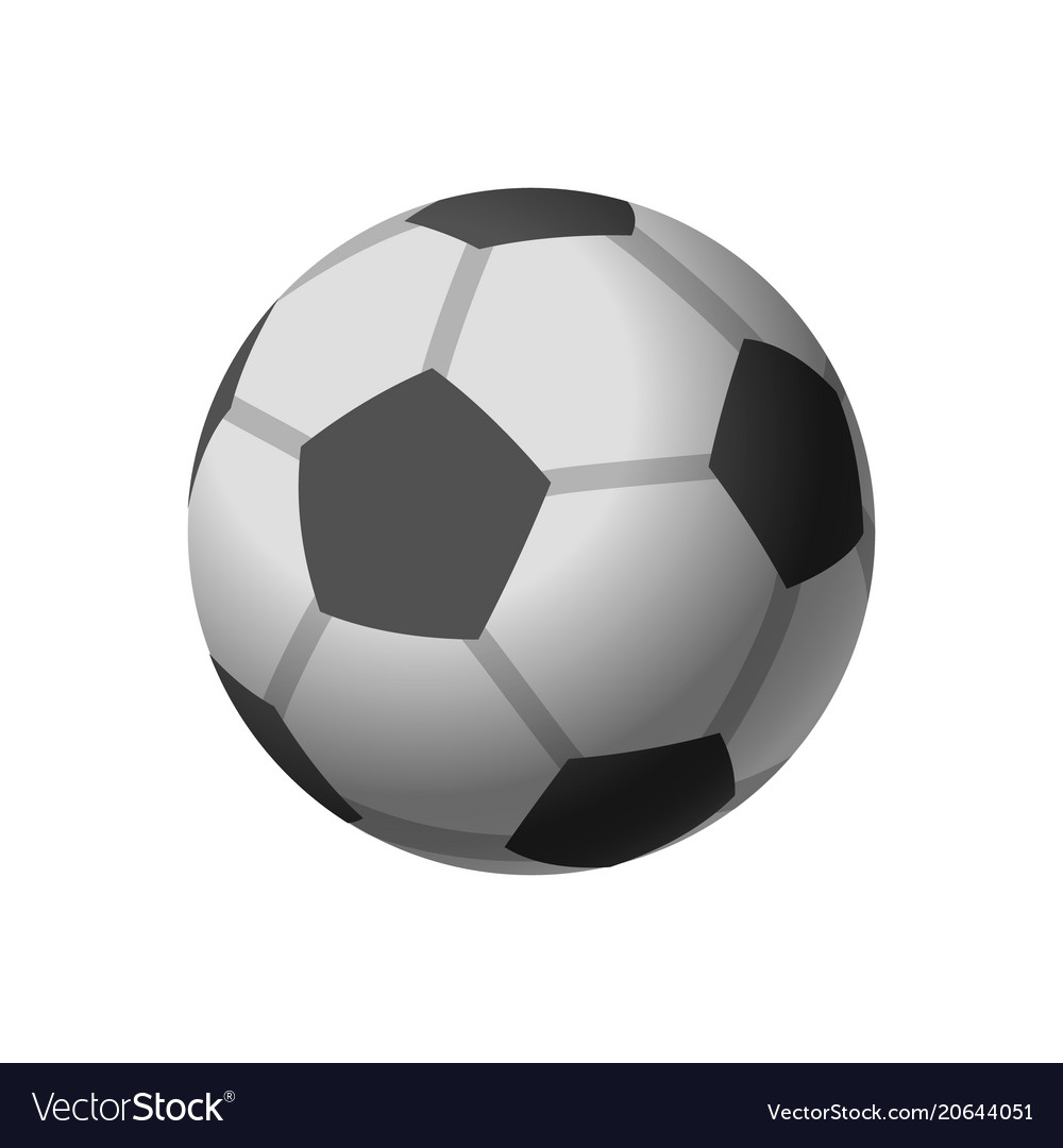 Football icon soccerball isolated on white