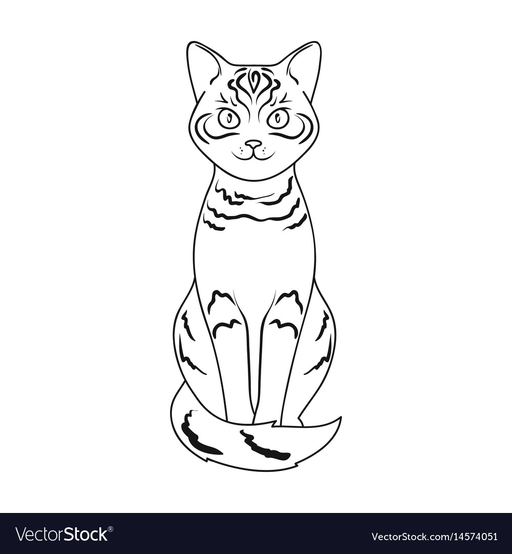 Gray catanimals single icon in outline style