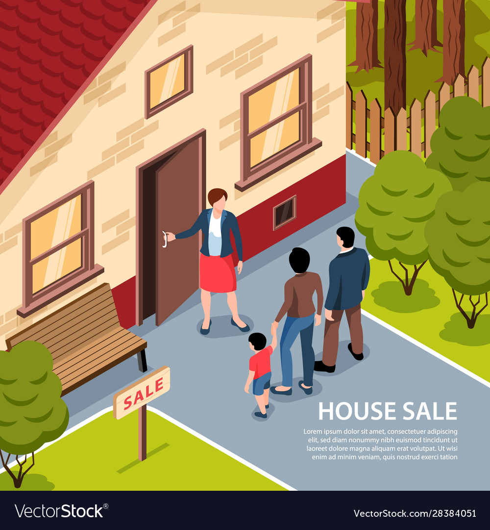 House sale isometric background