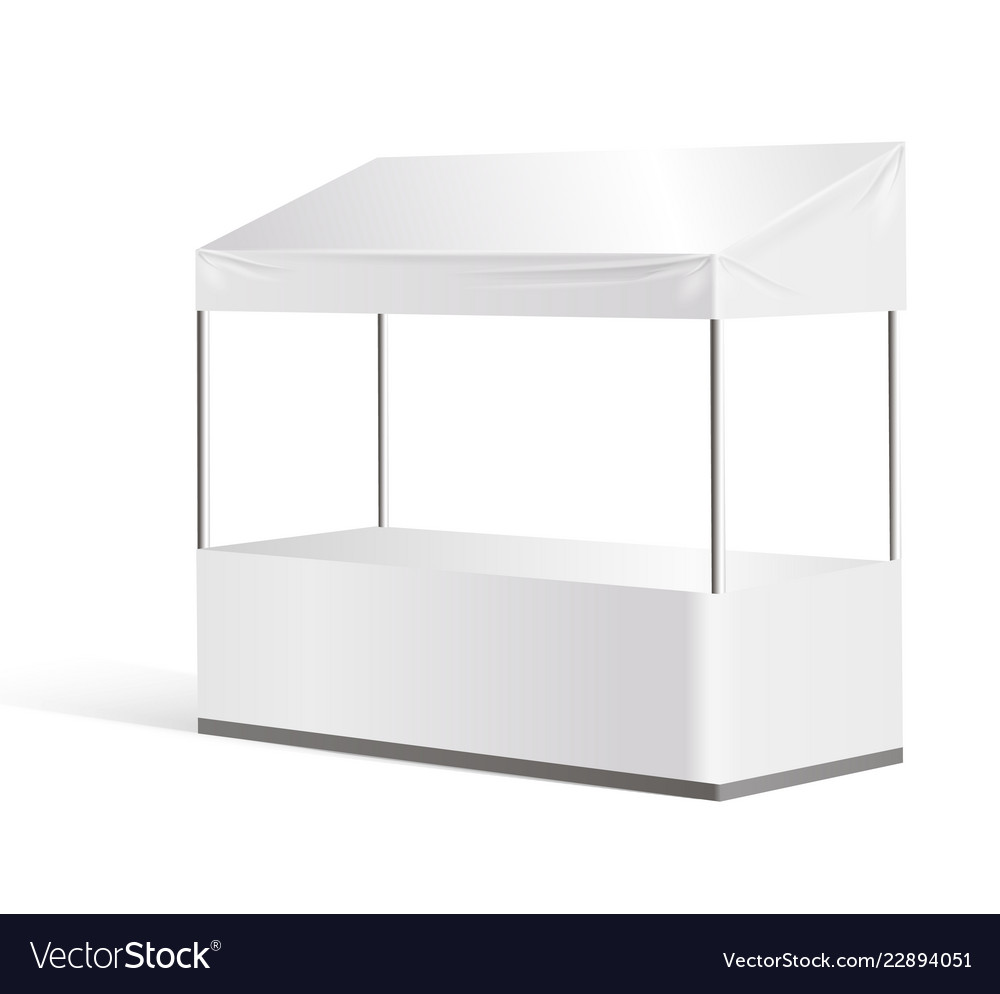 Exhibition Stall Mockup : Information booth exhibition stand mock up vector image