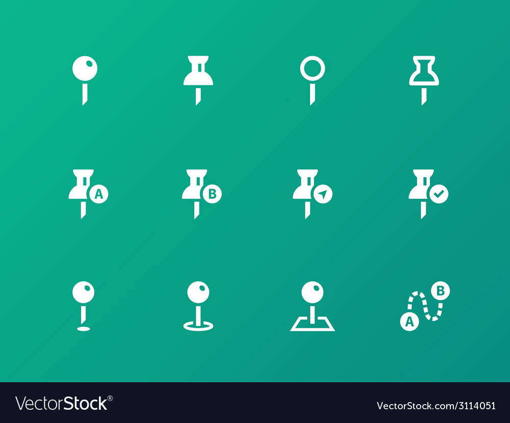 Mapping Pin icons on green background