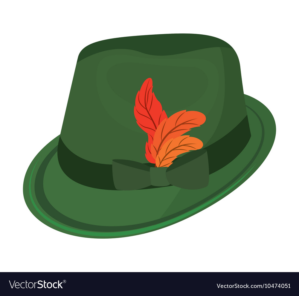 Oktober fest hat isolated icon