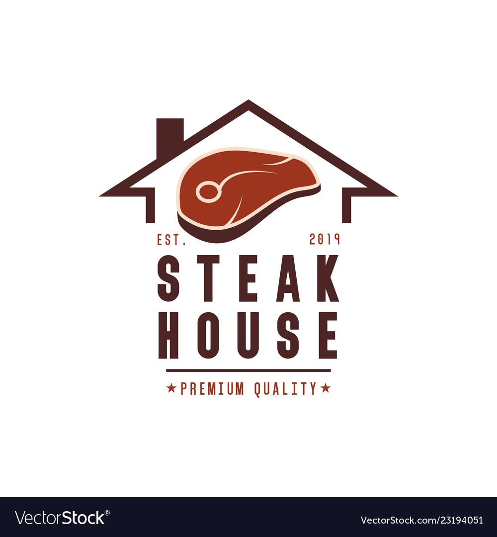 Steak house logo design inspiration