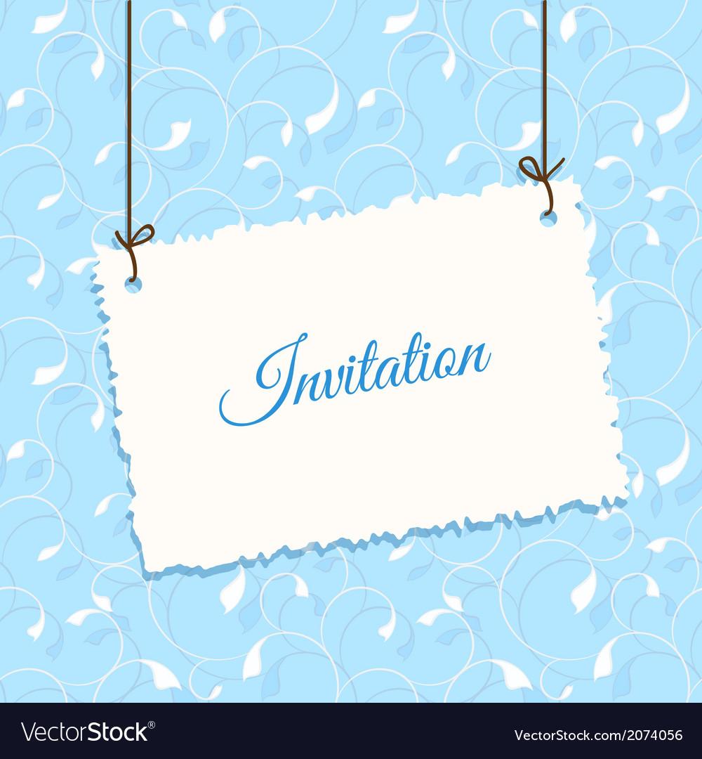 Blue vintage card design