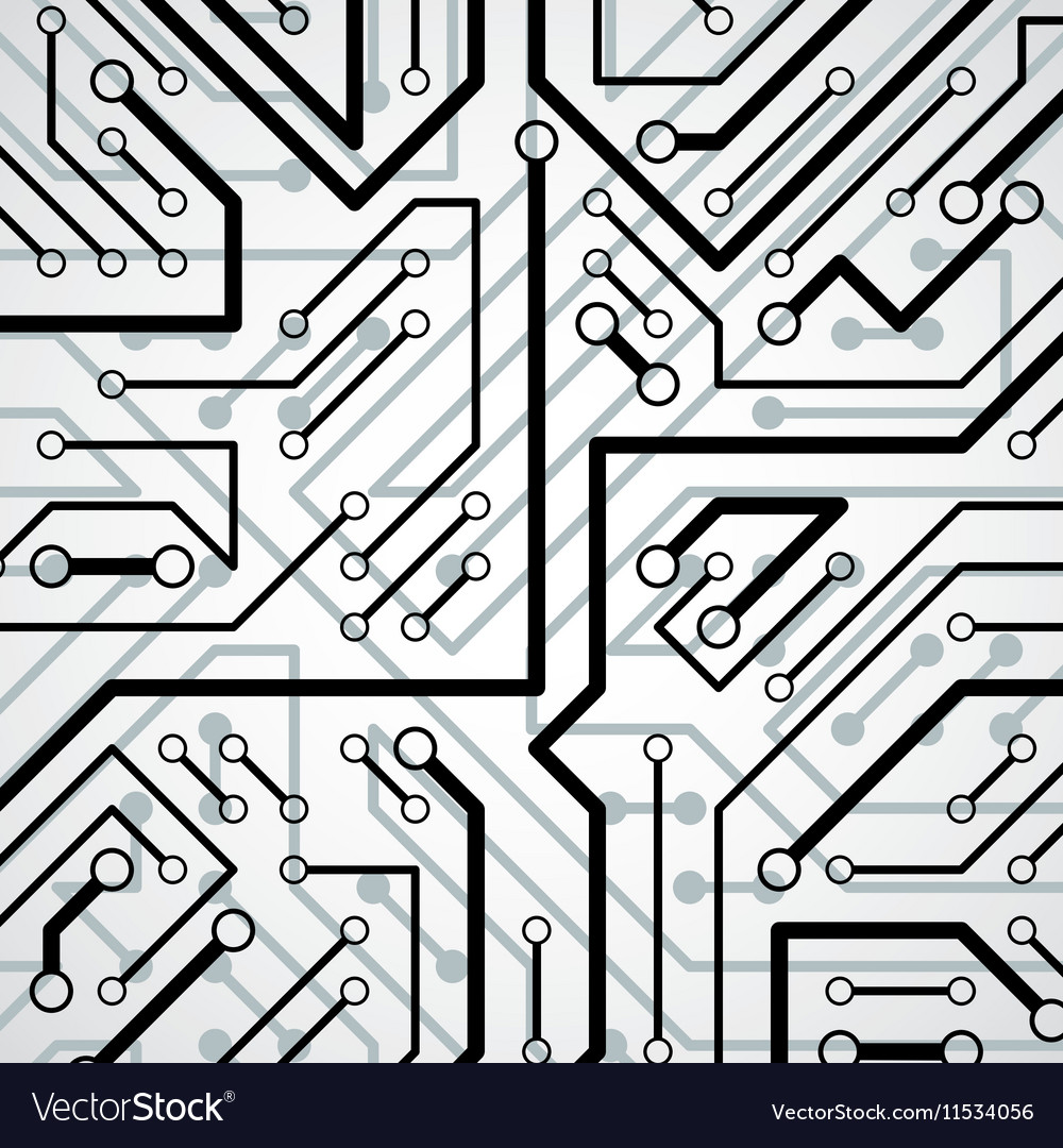 Electronic pattern with microchip scheme circuit Vector Image