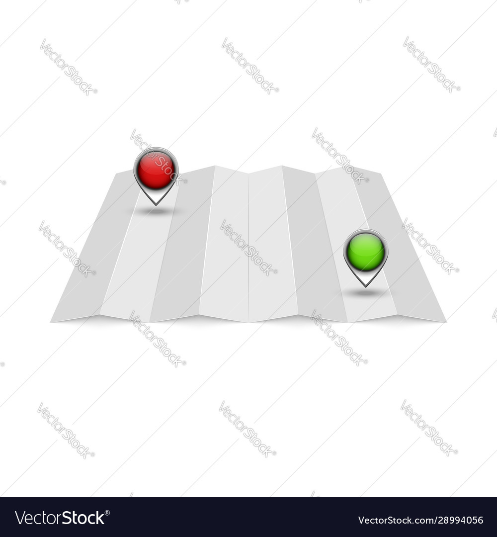 Empty mockup for a terrain map with two red and