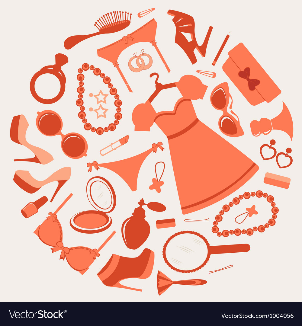 Fashion composition vector image
