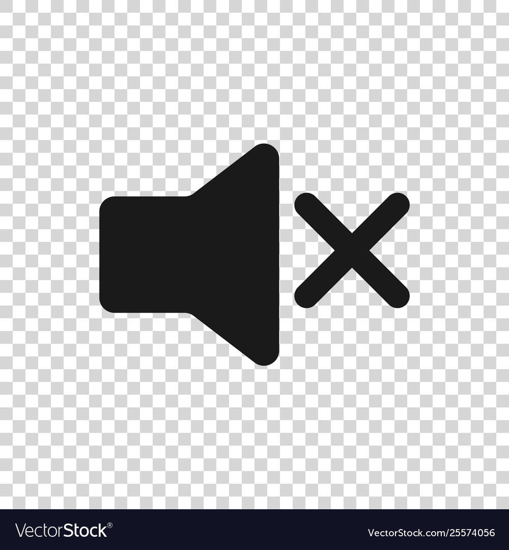 grey speaker mute icon isolated on transparent vector image vectorstock