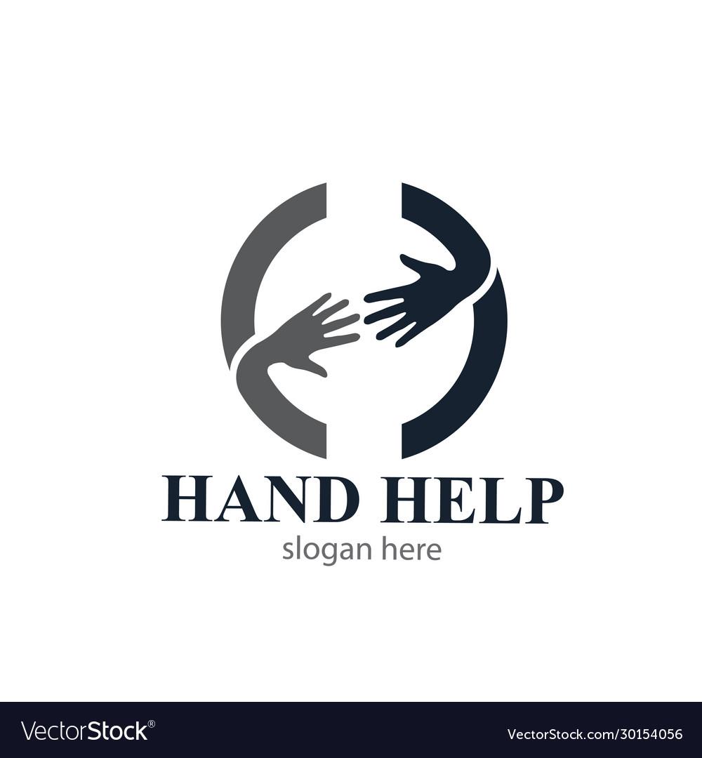Hand help people logo designs icons modern