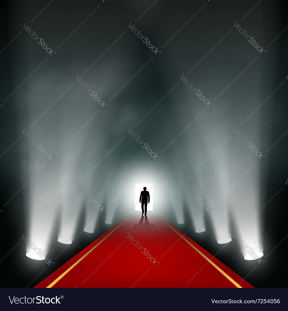 Man comes to the light vector image