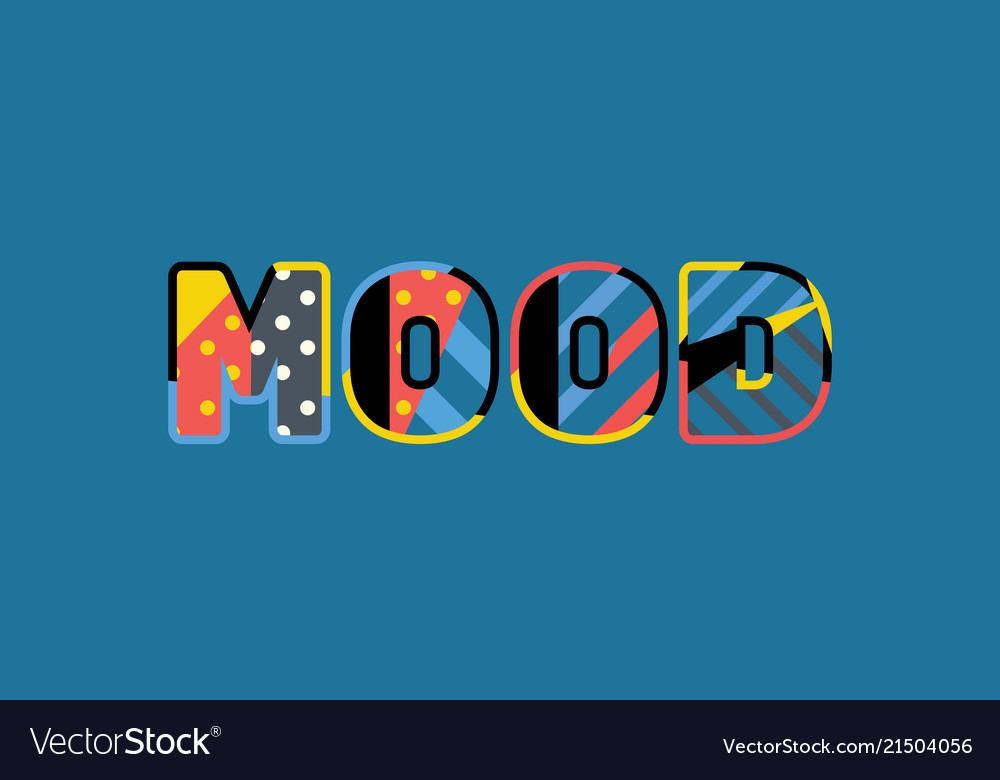 Mood concept word art