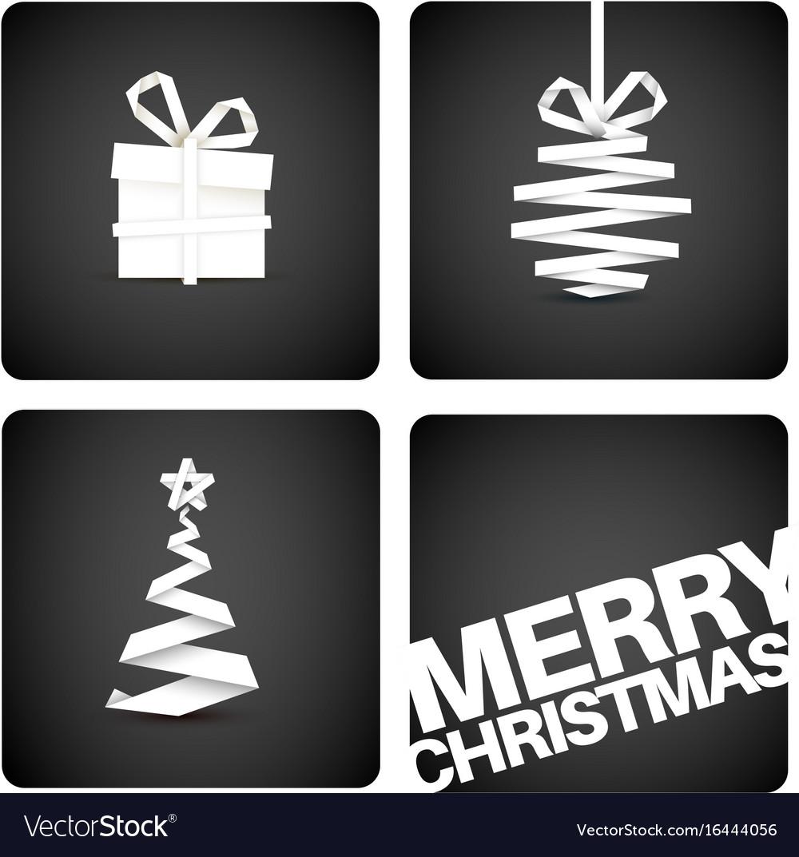 simple original christmas new year card vector image