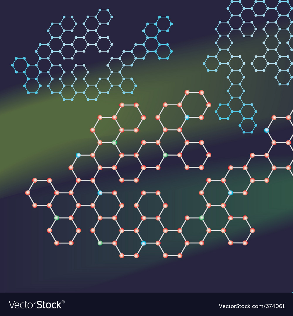 Abstract background of the molecules