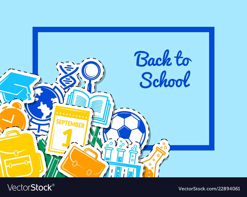 Back to school stationery background