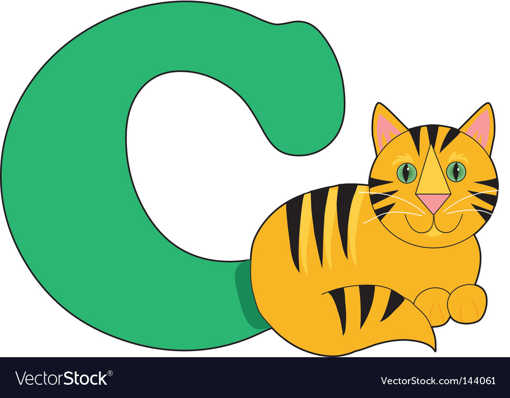 C is for cat vector image