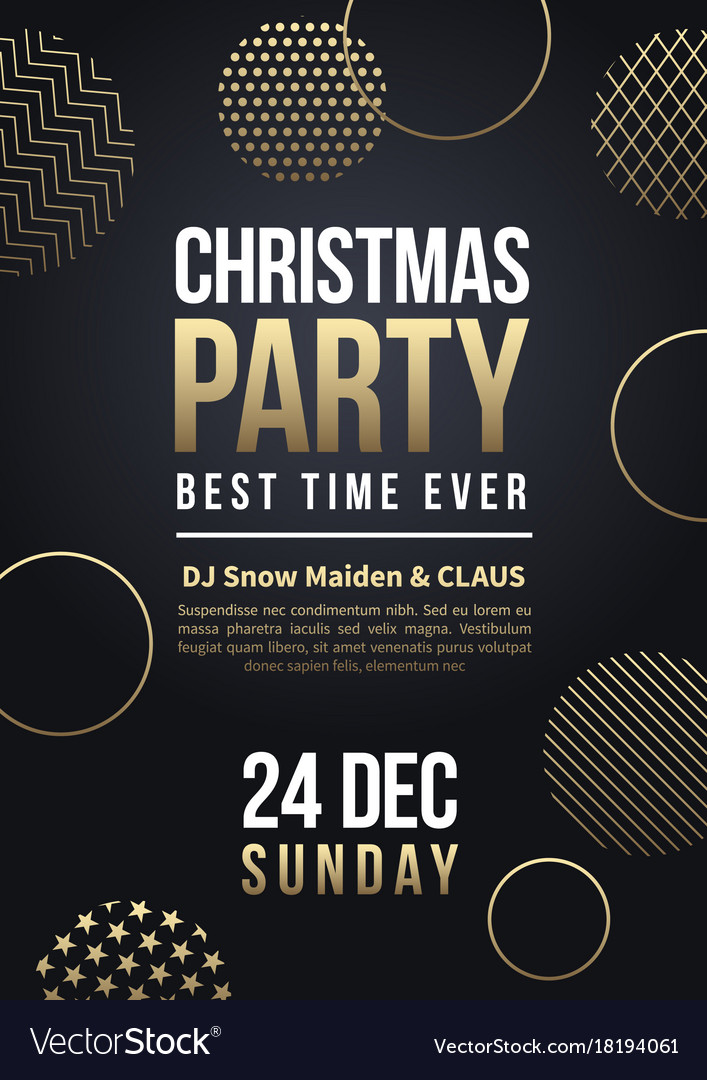 Christmas party flyer or poster winter