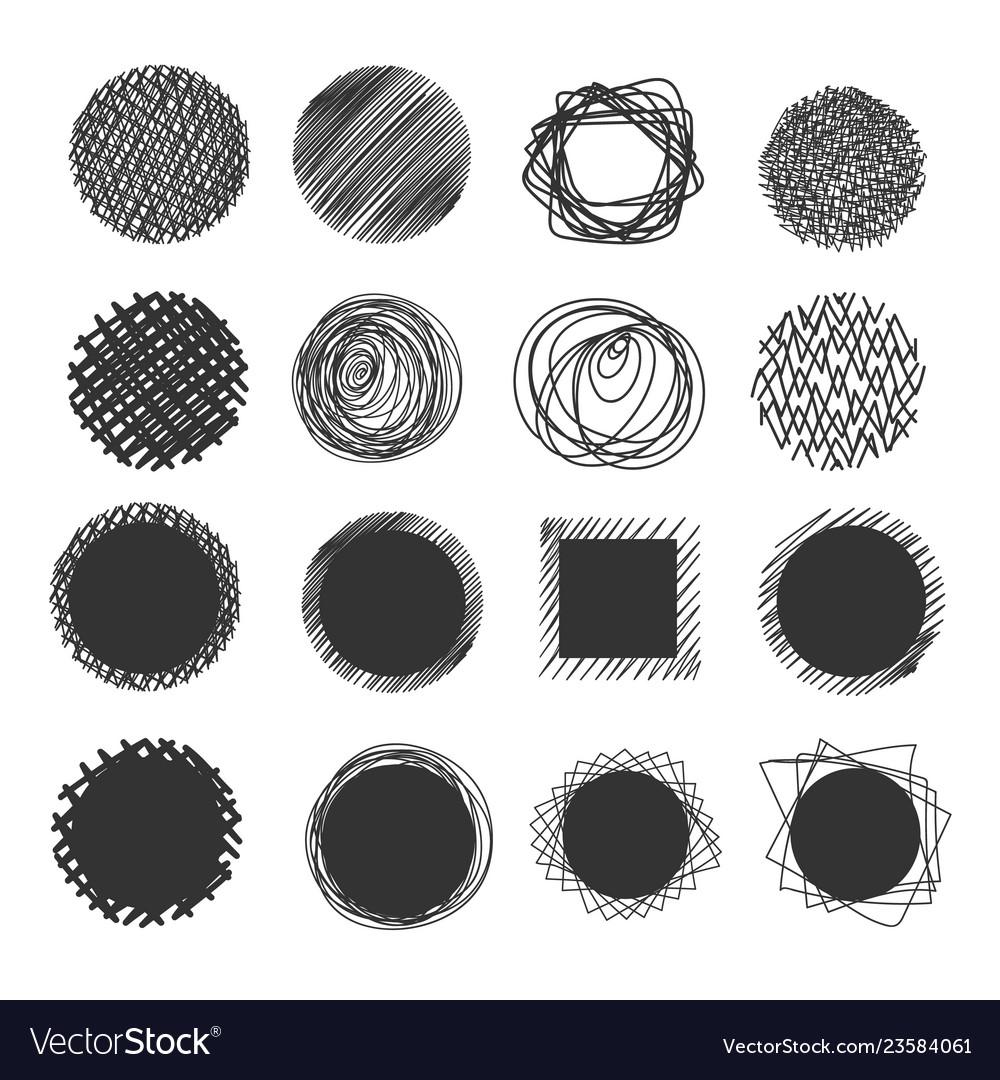 Hand made scribble circle