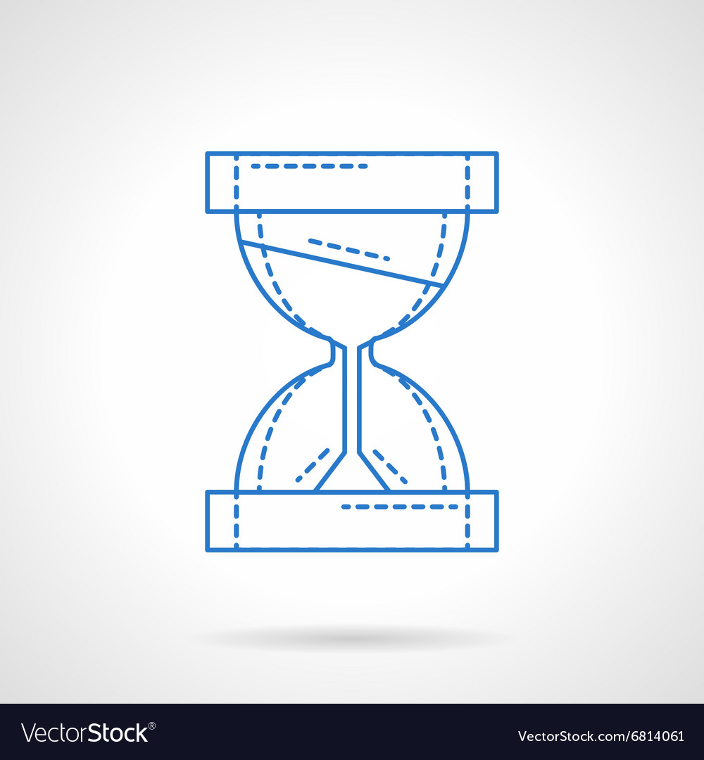 Hourglass blue line icon