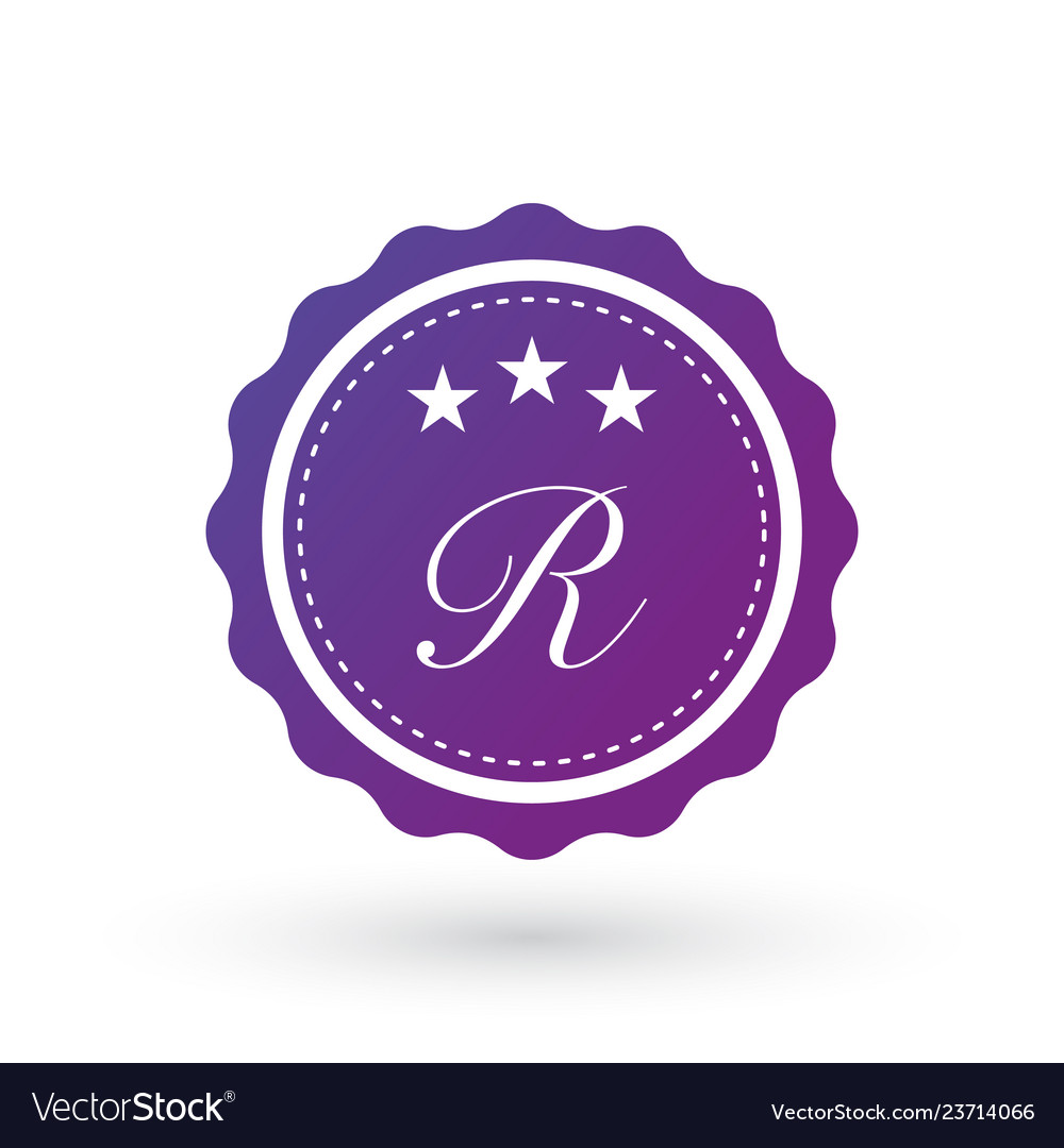 Badge design elements letter r template