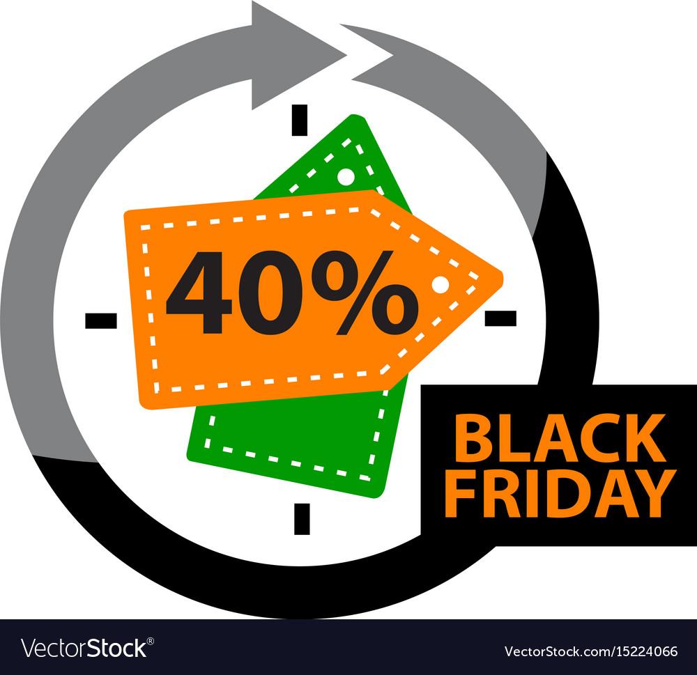 Black friday discount 40 percentage